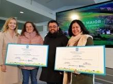 Conselleira de Política Territorial, Marta González, Alcalde de Castrelo de Miño e Julita Martínez.