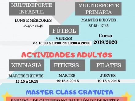 Actividades deportivas e ximnasio
