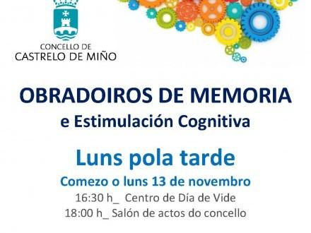 Obradoiros de memoria e estimulación cognitiva