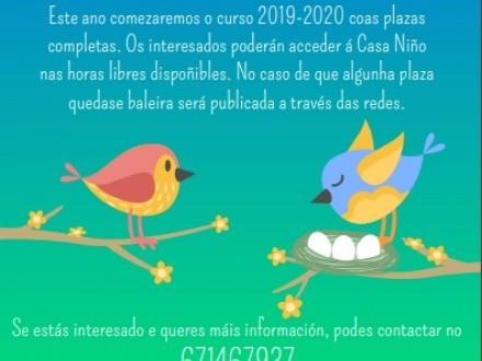 CASA NIÑO: CURSO 2019/2020