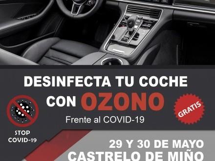 Desinfecta o teu coche con ozono frente ó COVID-19