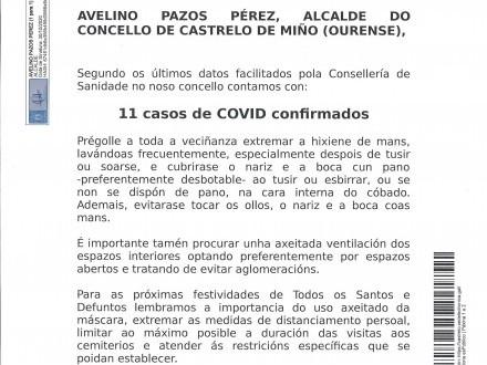 NOTA INFORMATIVA: COVID-19 PARA LAS PRÓXIMAS FESTIVIDADES DE TODOS LOS SANTOS Y DIFUNTOS