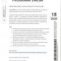 BANDO 18/2020: AYUDAS PROGRAMA EMEGA