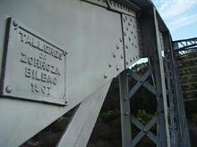 Detalle del puente de hierro