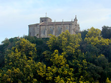 Vistas da Igrexa de Santa María desde o río Miño