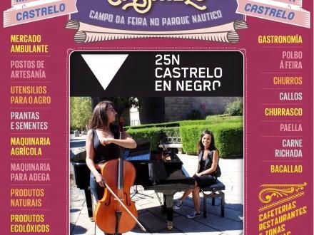 Feira de Castrelo do mes de novembro: 25N, en negro contra as violencias