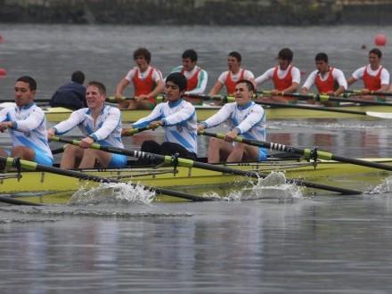 Campionato galego de remo olímpico en Castrelo de Miño