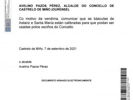 CALIBRADO DE BÁSCULAS