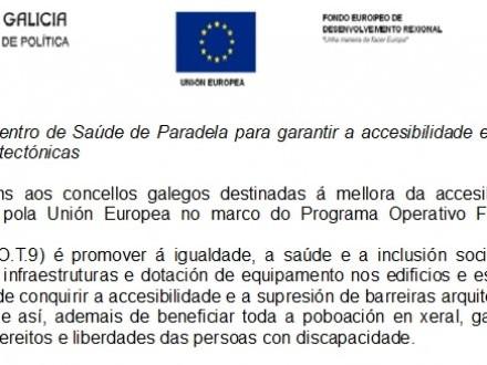 REFORMA DO CENTRO DE SAÚDE DE PARADELA