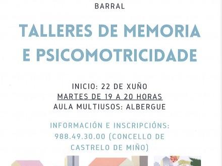 TALLERES DE MEMORIA Y PSICOMOTRICIDAD