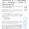 BANDO 15: CONTRATACIÓN DE 5 TRABAJADORES PARA LA PREVENCIÓN Y DEFENSA DE INCENDIOS FORESTALES