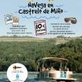 Catamarán turístico navega en Castrelo de Miño