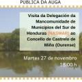 Unha delegación de seis alcaldes e unha alcaldesa de sete municipios de HONDURAS (NASMAR) visitarán Castrelo de Miño