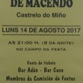 Cea do xarrete en Macendo